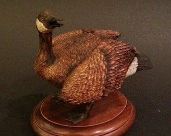 Mini Canadian Goose Wood Carving