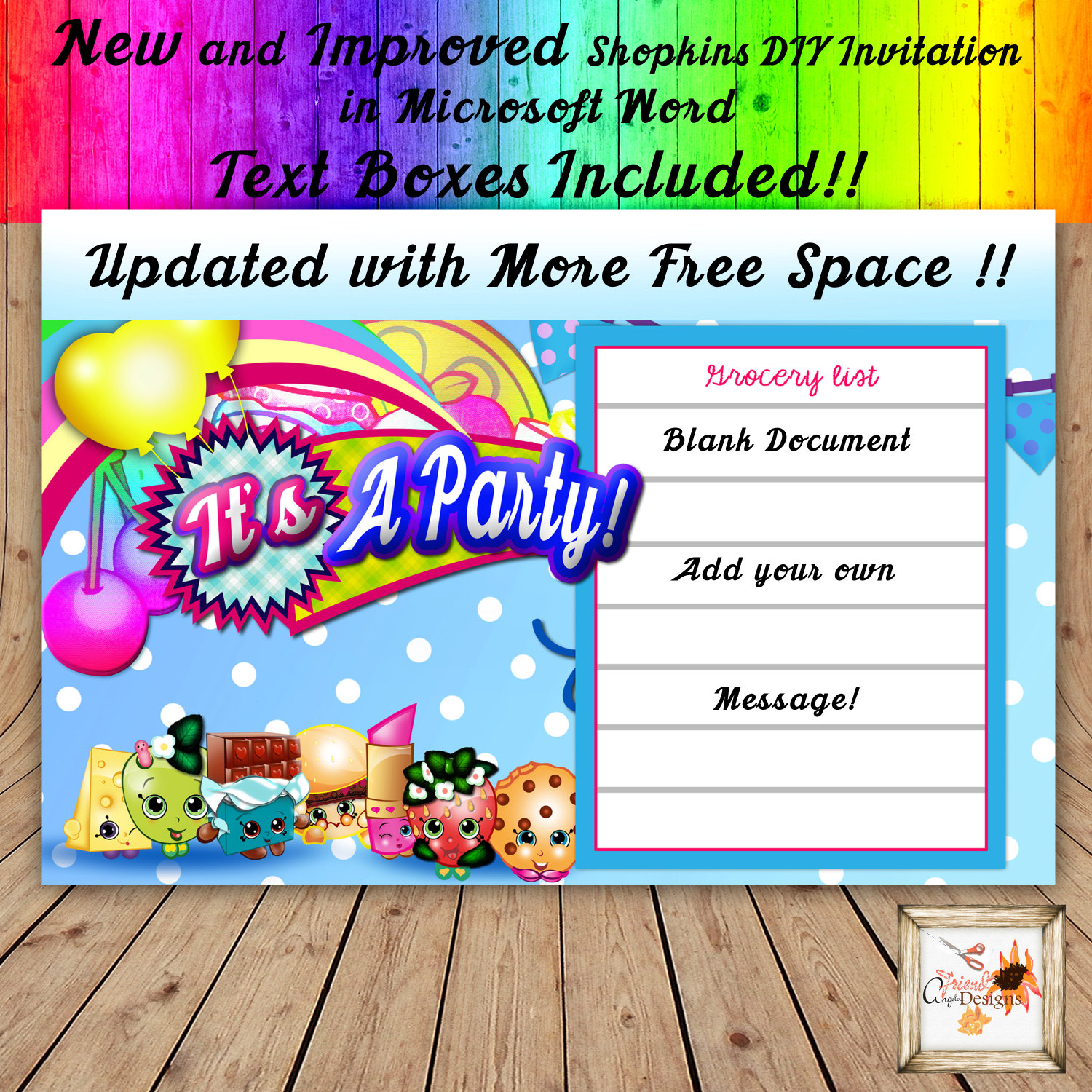 Shopping printable party Do it Yourself
