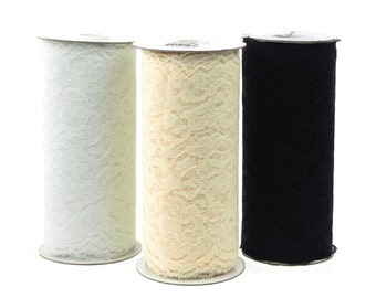 Floral Lace Roll Ribbon, 5-1/2-inch, 10-yard