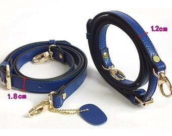 Adjuster 105--130cm length leather shoulder strap, bag strap.