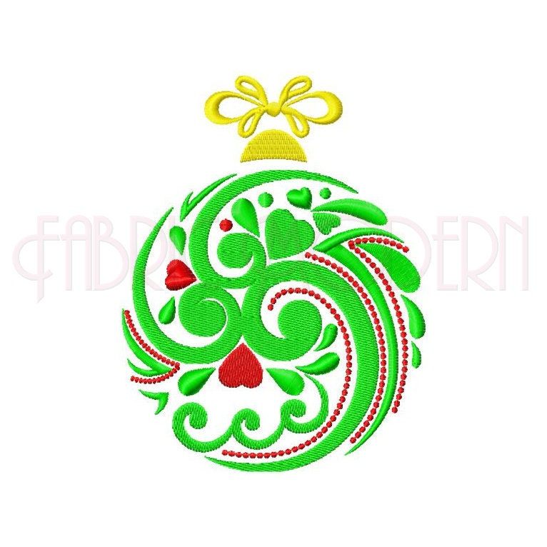 Christmas ornament machine embroidery design decoration