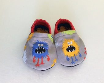 Monster Baby Booties, 0-6 months