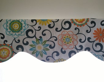 Black and white window valance lined window valance black and