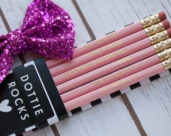 Mean Girls Pencils - On Wednesdays We Wear Pink, Set of 6