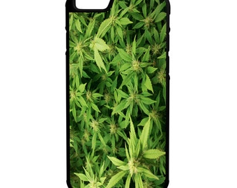 "Weed Garden Cannibis Kush iPhone 6 4.7"" 6 Plus 5.5"" Hybrid Rubber Protective Case Trippy"