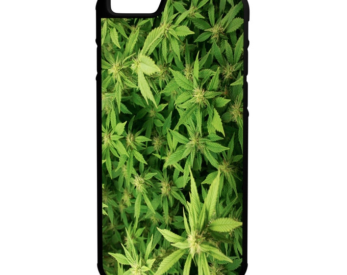 """Weed Garden Cannibis Kush iPhone 6 4.7"""" 6 Plus 5.5"""" Hybrid Rubber Protective Case Trippy"""