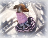 Dog dress / Dog clothing /Gift ideas /Poodle dress | Chihuahua vest | Pet Clothing /crochet dress handmade