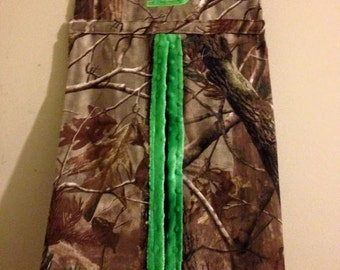 Camo and Lime Diaper Stacker