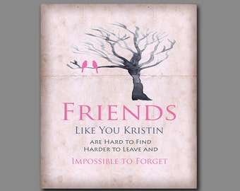 Gift for Friend - Friendship Gift - Birthday Gift - Bridesmaid Gift -  Thank You for Being a Friend - Old Parchment Effect