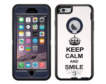 Apple iPhone 6 Otterbox Defender KEEP CALM and Smile on White (B-519-W)