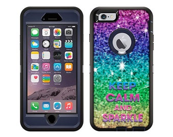 Apple iPhone 6 Otterbox Defender KEEP CALM and Sparkle (B-1708)