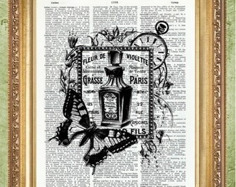 French Bathroom Art Print Bathroom Decor Dictionary Art Prints Butterfly