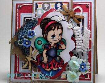 Ladybug girl card