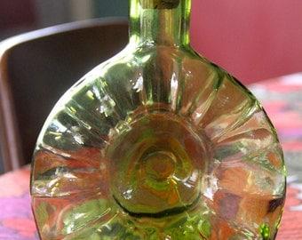 Vintage Remy Martin Cognac Decanter ~ 1960's  - mid century - modern green  glass