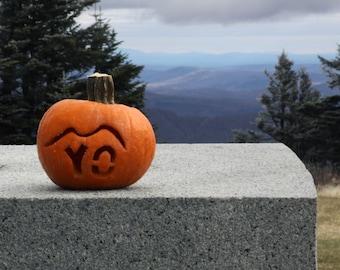 "Halloween card - ""YO"" pumpkin"