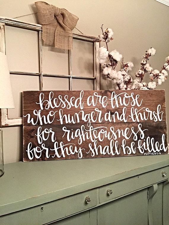 Home Decor Scripture Sign Custom Order Wood Sign Rustic