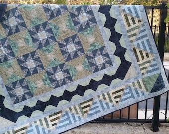 Handmade and unique Queen quilt / Bedspread