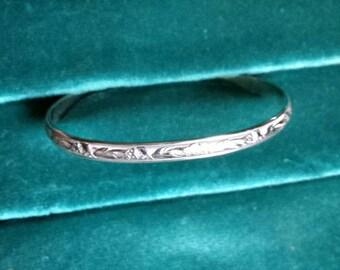 Sterling Silver pattern wire cuff bracelet