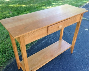 Solid cherry sofa table. Hall table