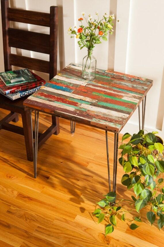 Reclaimed Bali Boat Wood End Table Teak Coffee Table