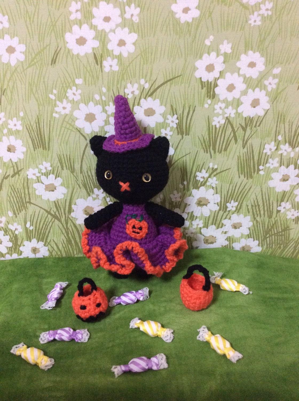 Halloween Amigurumi Cat Crochet Cat Amigurumi Witch Crochet