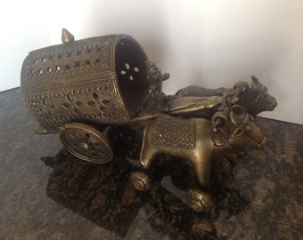 Large Vintage Brass or Bronze Handmade Temple Toy
