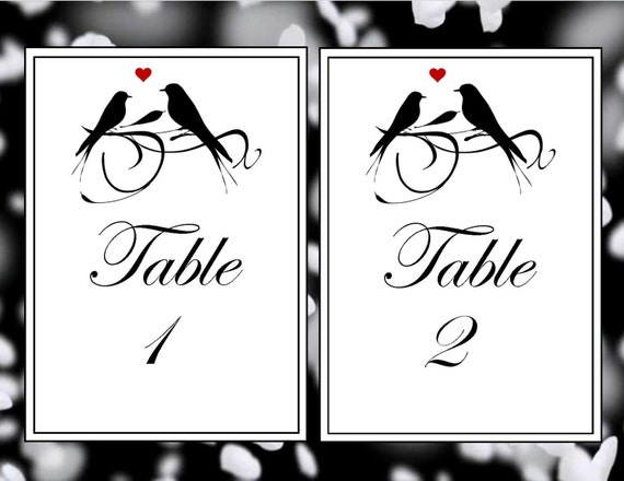 Printable table numbers wedding table numbers printable love for Table numbers template for weddings