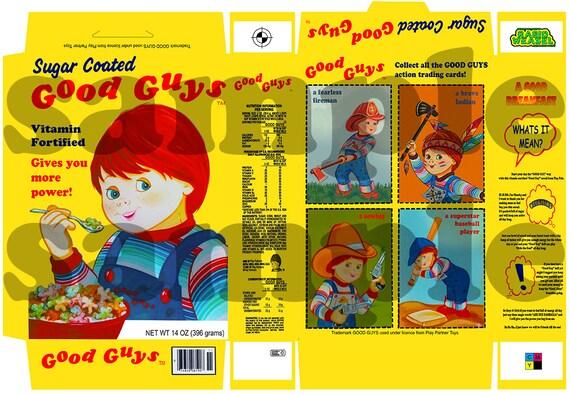 Good Guy Cereal Box Replica Chucky Horror Prop Childsplay