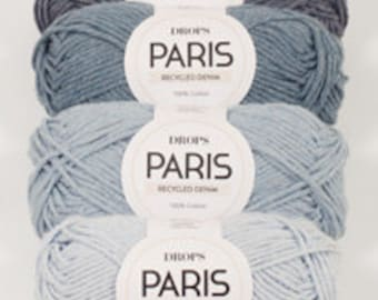 Drops Paris recycled denim, 100% cotton yarn
