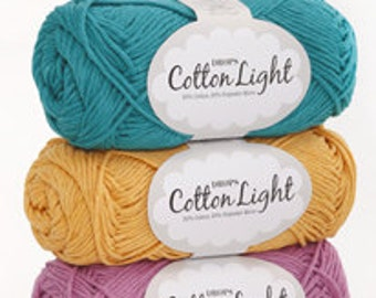 DROPS Cotton Light, 50% Cotton, 50 Polyester yarn