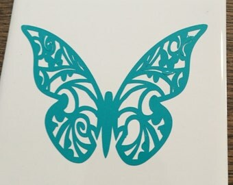 Ceramic Butterfly Coaster