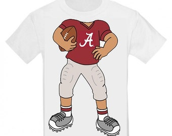 Alabama Crimson Tide Heads Up! Football Baby/Toddler T-Shirt