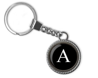 Typewriter Letter Key Chain, Letter Of Your Choice Pendant Handmade