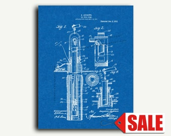 Patent Art - Oil-well Pump Patent Wall Art Print