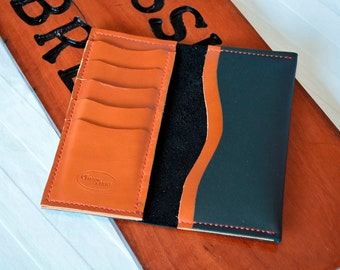 Hand Made Custom Made Leather Phone Wallet