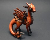 Dragon sculpture OOAK dragon figurine fantasy creature fairy fire dragon dragon collectible figurine author's work art limited edition buy