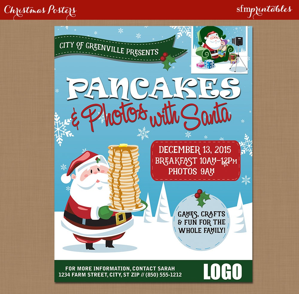 pancake breakfast santa flyer photos santa clause 128270zoom