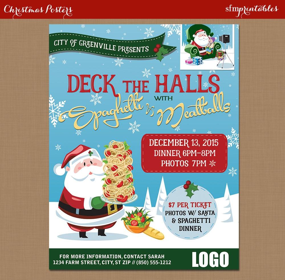 spaghetti dinner flyer poster photos santa fundraiser 128270zoom