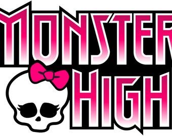 Monster High Logo Decal WALL STICKER Home Decor Art Kids Bedroom Vinyl