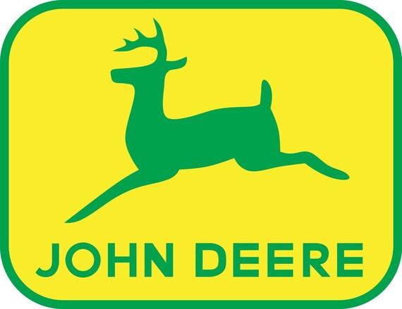 John Deere Logo Decal Wall Sticker Home Decor Art By