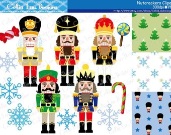 Nutcracker clipart , Christmas Digital Clip art, Christmas graphic for Personal and Commercial Use/ INSTANT DOWNLOAD (CG176)