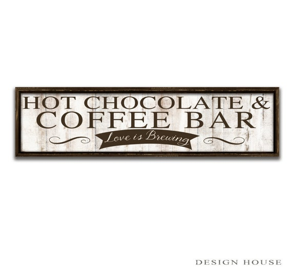 Coffee Bar Sign Coffee Signs Coffee Art Kitchen Signs Kitchen Wall Art