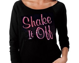 Shake it Off  'Next Level' French Terry Raw Edge Black Raglan 3/4 Sleeve