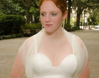 Lace Shrug, Bridal Shrug, Wedding Cover-Up, English Netting Wrap, Lace Cover Up- CAITLYN