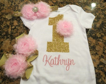 Pretty Lil Onesie With Flower/ Headband