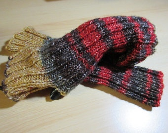 Arm warmers, leg warmers - beige-Red-Brown, with thumb hole