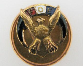 Vintage Fraternal Order of Eagles Lapel Pin