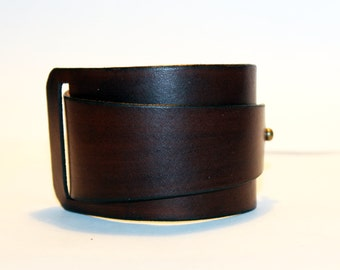 Brown Leather Cuff! Brown Bracelet! Great Gift!Brown Cuff! Very Nice Bracelet!