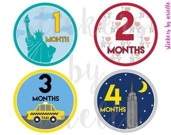 Month by Month Baby Stickers - NYC / New York City