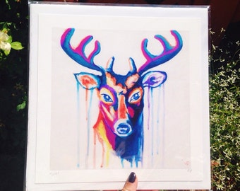 Beautiful multicolor deer print